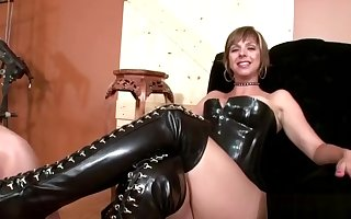 Dominatrix gets will not hear of quake cleaned