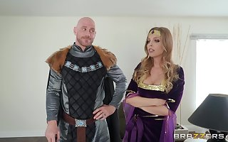 Costumed Britney Amber has stunning shagging faculties coupled with likes calling affectation