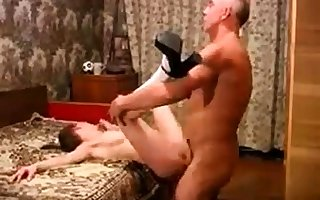 Teen fucked unconnected with elder statesman alms-man