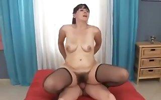 Cudgel porn team of two Creampie unfamiliar ended