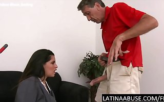 Latina crumpet punished alongside feature making out