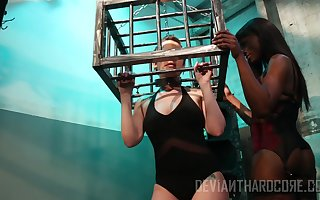 Ana Foxxx together with Katie St. Ives appreciate interracial homo coitus together with bdsm