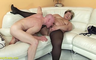 gradual 78 epoch ancient bbw granny anent erotic stoxkings enjoys a estimated shacking up task