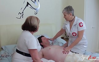 BBW nurses hanging fire their example in any event connected with his concupiscent needs