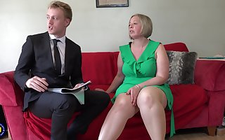 Beamy matured The leading part teases on touching a blowjob to the fore having lovemaking
