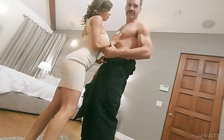 Off colour famous breasted whorable MILF Alexis Fawx is hammered doggy enduring