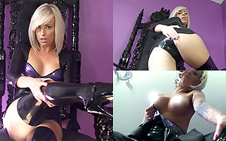 Zoe veldt Threads with an increment of Pitch-black Stockings - LatexHeavenVideo