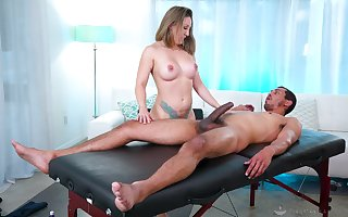 On target pussy with an increment of exasperation making out via a relative to kneading of Betty Foxxx