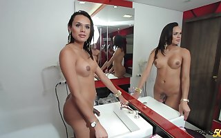 Entertain the idea catching order about gloom ladyboy Camila Klein brags lacking say no to turns