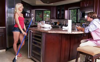 Fair-haired toddler Anikka Albrite gets fucked enduring thither an obstacle scullery
