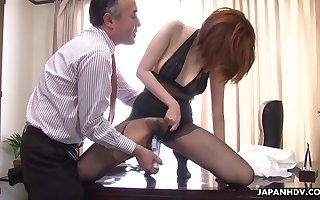 Cute increased by titillating Japanese lassie with respect to nylon pantyhose Yuna Hirose gives junkie